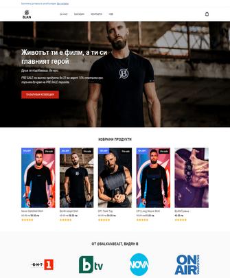 Портфолио проект за BLKN WEAR - Project Yordanov - Уеб-дизайн услуги